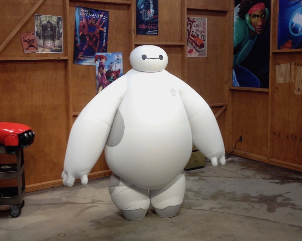 Baymax in his greeting spot at the Epcot theme park in Florida's Walt Disney World.