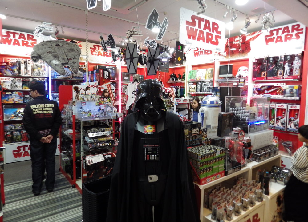 The  Star Wars  corner in   Kiddy Land Harajuku,   November 2017.