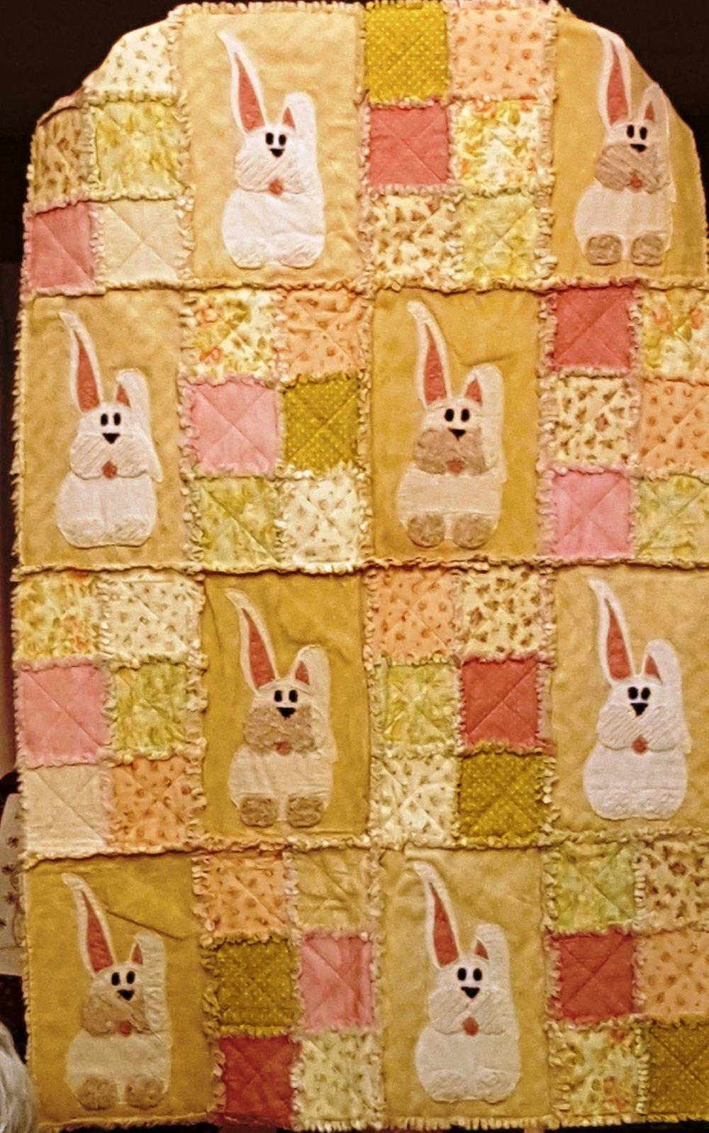 speaker bunny rag quilt.jpg