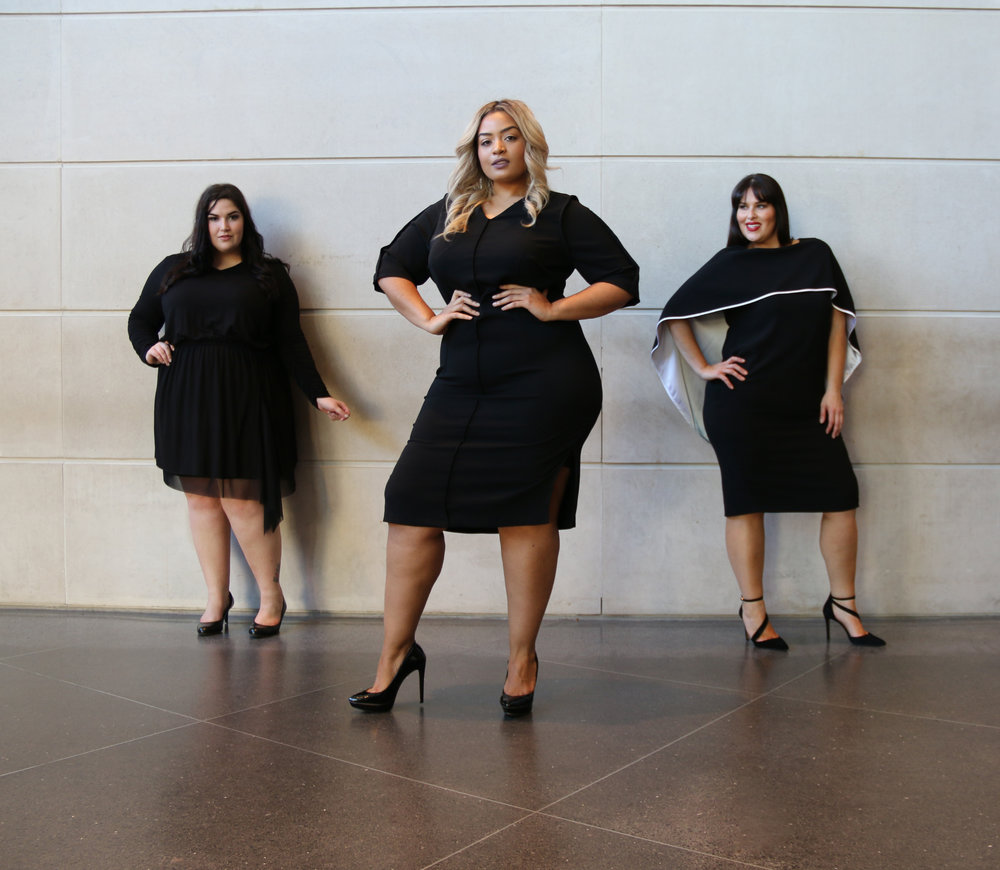 Models  (left to right): Faith Costa, Desiree Jenkins, Rebecca Ballister  Photo : Nancy Anteby
