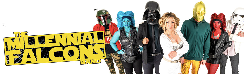 Space out on all of your favorite top 40's music while paying tribute to one of the best movie series of all time! The Millennial Falcons want to bring the Space Age to life and up to speed with you!