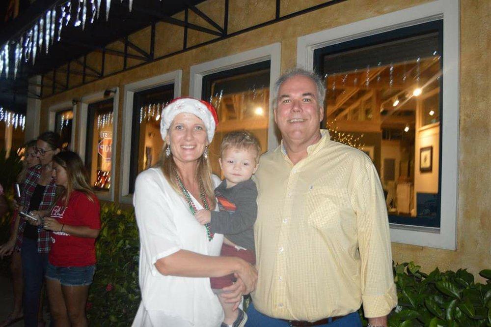 Clayton with Grandma and Pop Pop