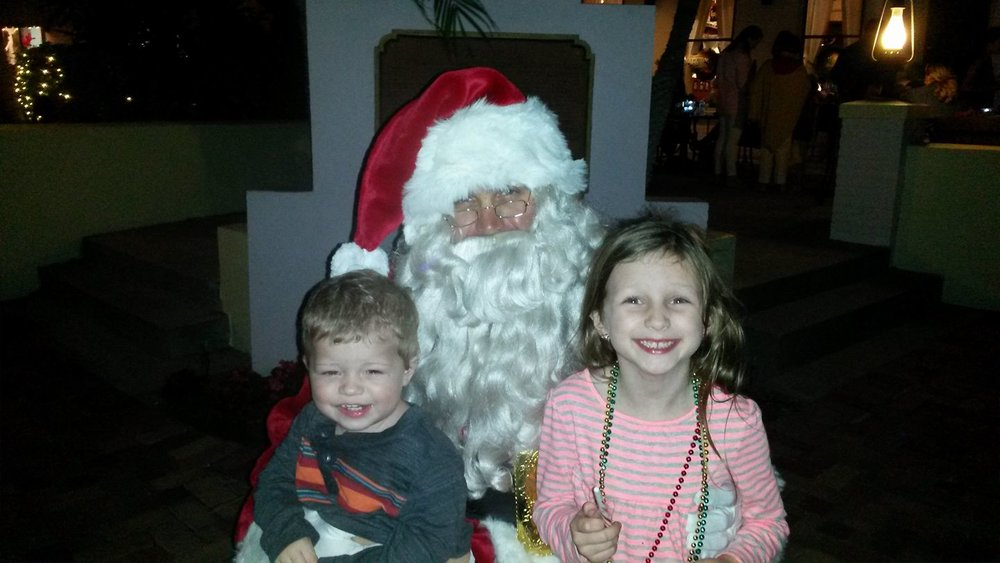 Caylee and Clayton are so happy to finally see Santa!