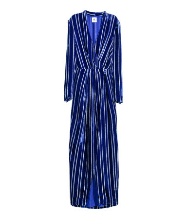 Velvet dress in siLk blend