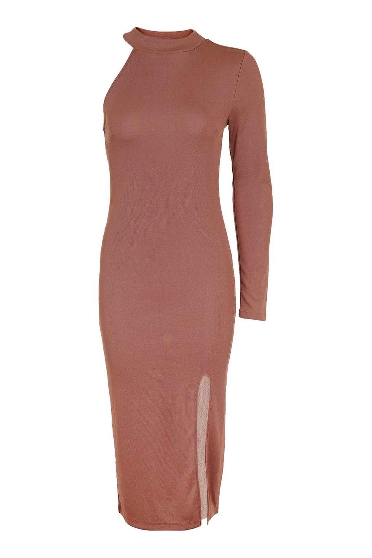 PETITE One Shoulder Midi Dress