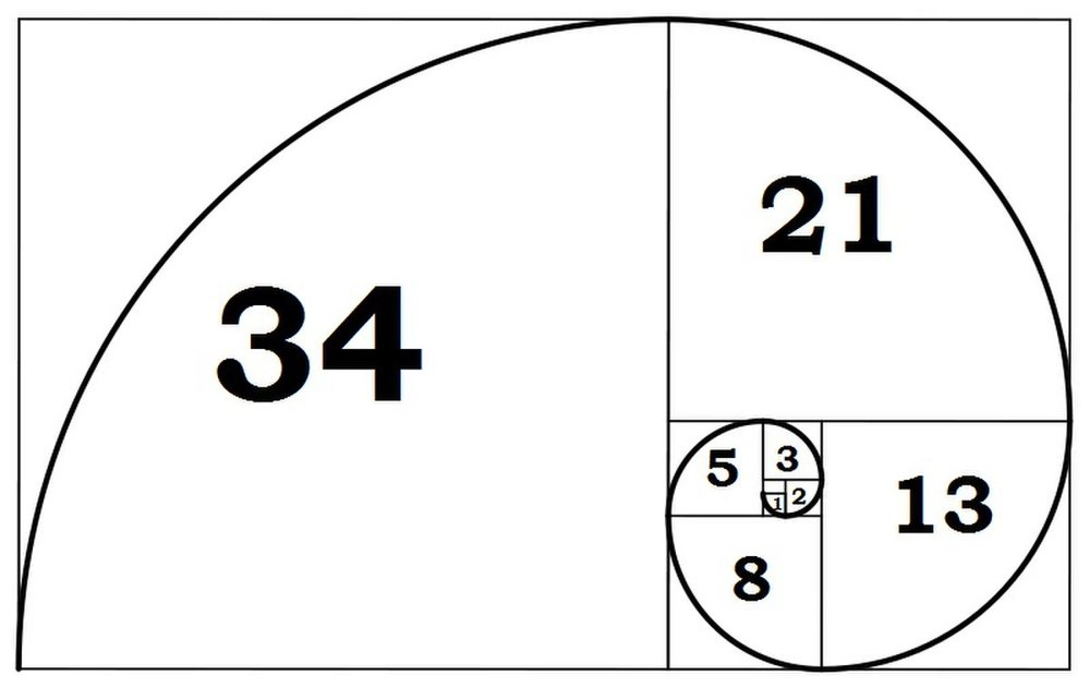 Fibonacci Spiral representing the Golden Ratio