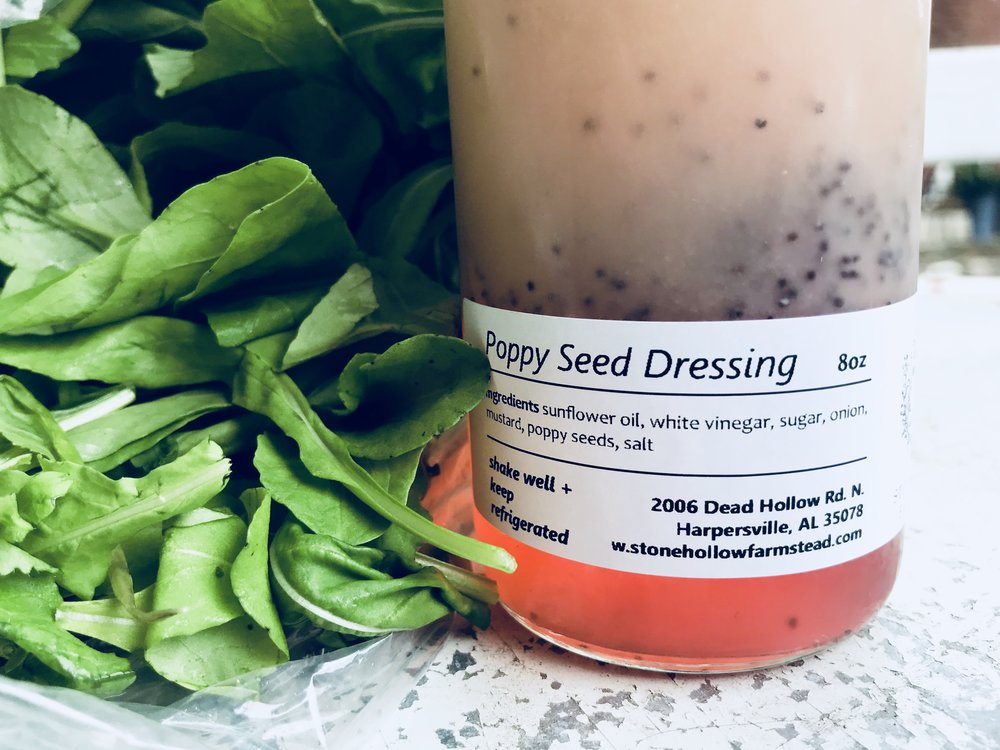 Salad Mix & Poppy Seed Dressing /  Stone Hollow Farmstead