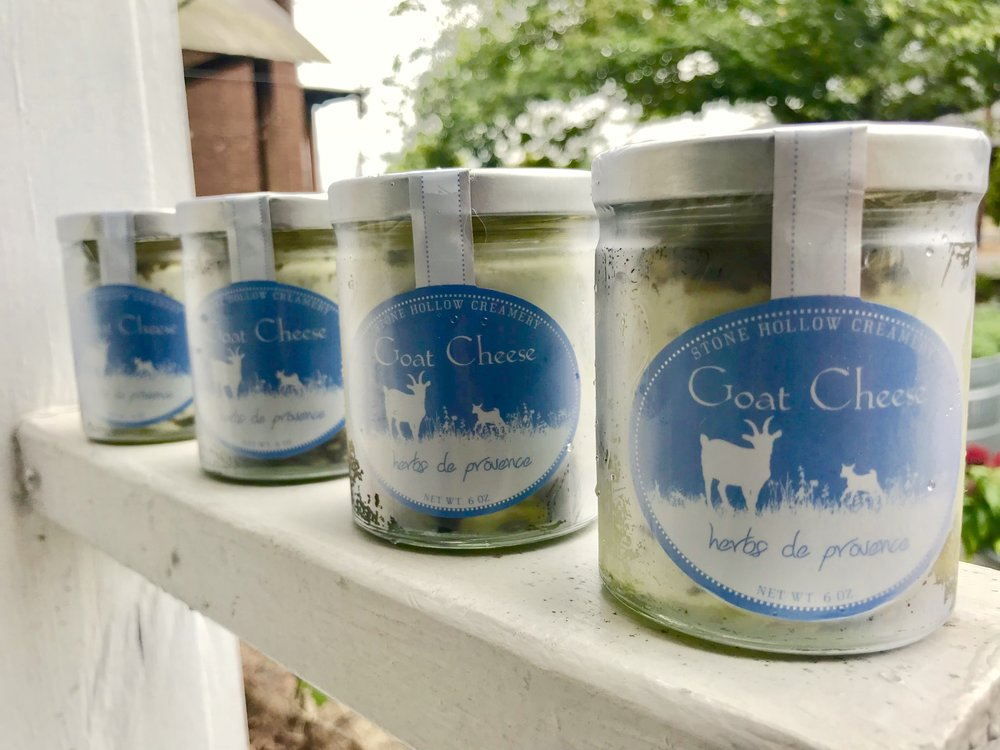 Herbs de Provence Marinated Goat Cheese  / Stone Hollow Farmstead