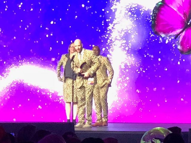 "Last night wilderness safaris won the big virtuoso experiences award!  To quote Craig G., resplendent in leopard suit with his mates- ""as you may know, Wilderness Safaris's motto is 'OUR JOURNEYS CHANGE LIVES'. For those of you who are afraid to go to Africa, remember- routine is lethal"". Congratulations guys!  Your conservation efforts are changing the world."