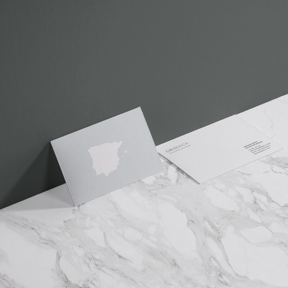 GM Iberica | Printed Material     Graphic Design & Branding.   An elegant and functional business card design for an inbound travel company for Spain & Portugal.
