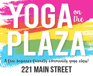 We've partnered with the city of round rock to offer Yoga on the Plaza, a FREE beginner-friendly, al fresco yoga class! Bring a yoga mat or large towel and bottled water.    MARK YOUR CALENDAR FOR THESE UPCOMING DATES IN 2016!   April 9  May 14 June 11 July 9 August 13 September 10   ALL CLASSES START AT 8:00 A.M.! THE PLAZA IS LOCATED AT 221 E. MAIN STREET IN ROUND ROCK.   In the event of rain or if the ground is wet from overnight rain, Yoga on the Plaza will be cancelled.