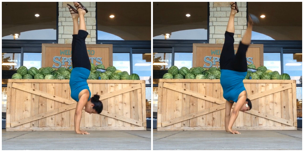 sprouts handstand collage