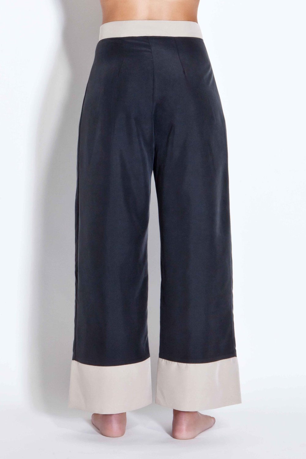 Two-toned trousers - Black