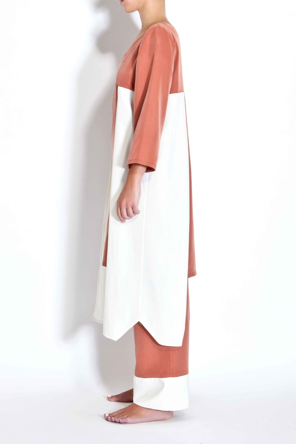 Two-toned tunic - Rust