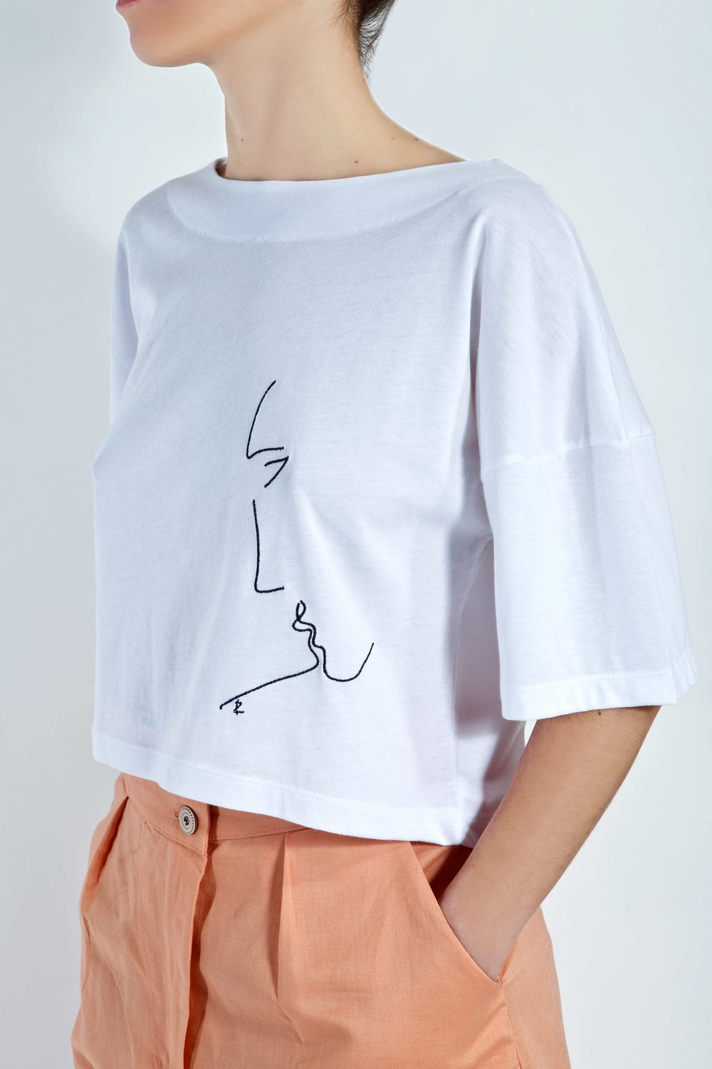 T-Shirt Phaino - White - Minimal Kiss