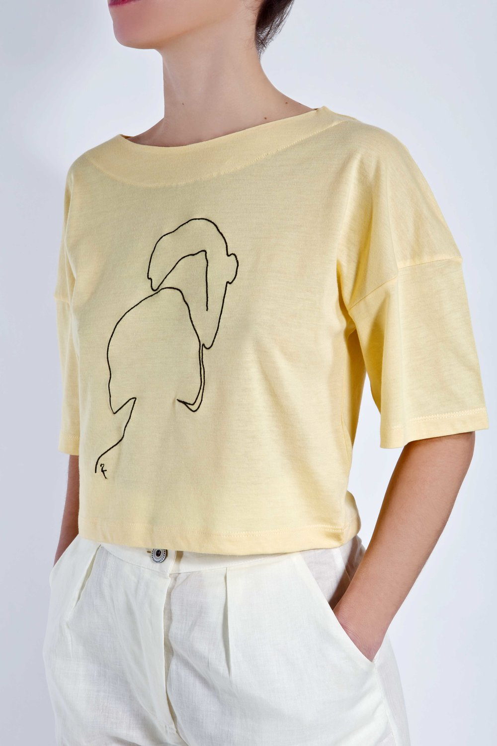 T-Shirt Phaino - Yellow - Couple