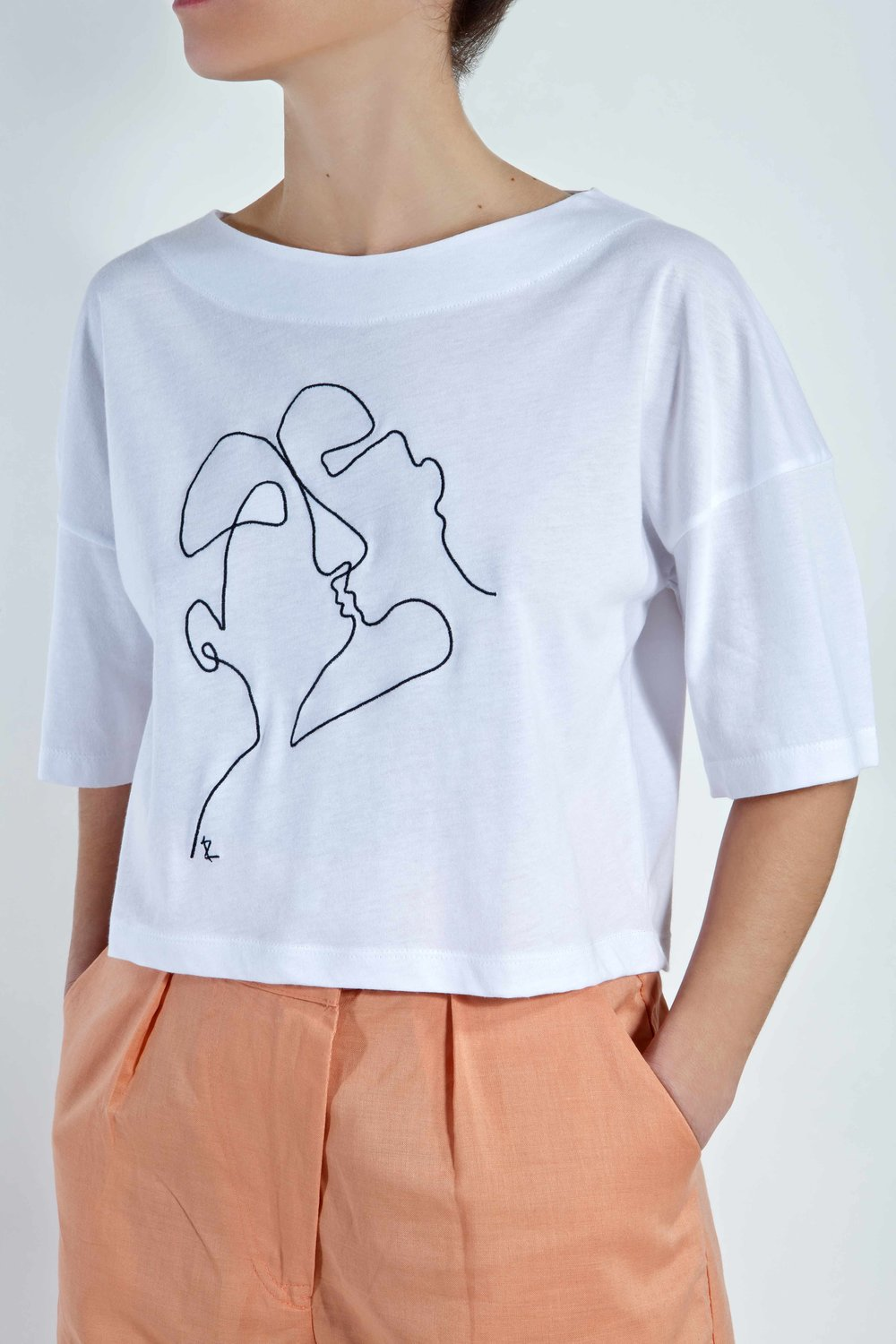 T-Shirt Phaino - White - Cycladic