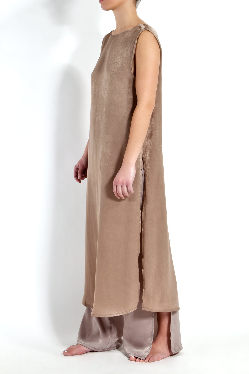 Camel Satin Tunic