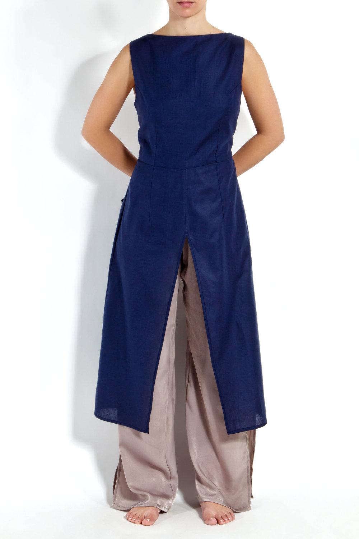 Navy Linen Tunic