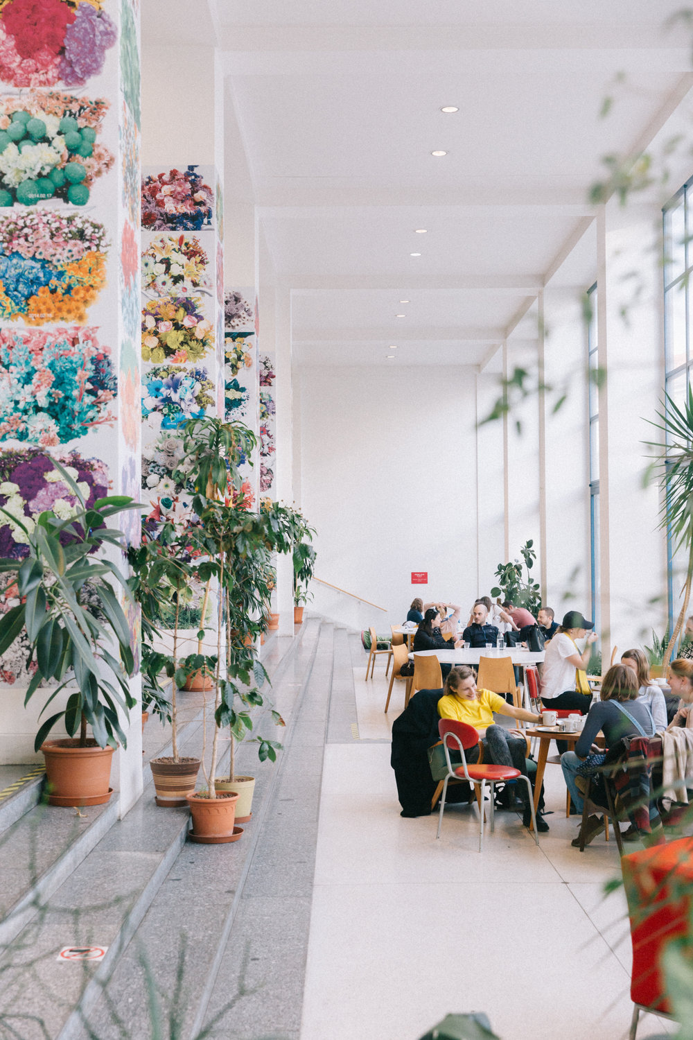 Cafe Jedna - One of my favorite cafes to visit and join in the swirling wave of productivity. Also, its fun because every season the cafe takes on a new exhibition. Everything changes, besides the plants and service which are always superb ;)