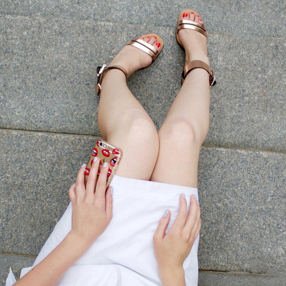 Dress:   Aritzia  Shoes:   Whistles   Phone Case:   Sonix