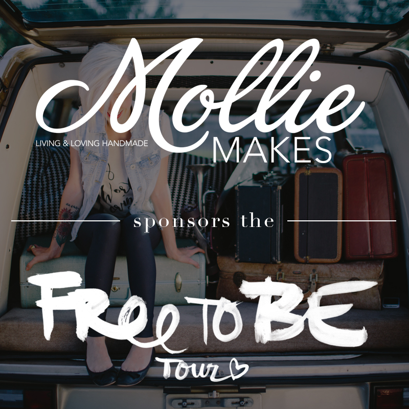 "We are so excited to officially announce another sponsor/ family member for our Free to Be tour: Mollie Makes Magazine! ""Mollie Makes brings you the best of craft online, a look inside the homes of the world's most creative crafters, tutorials on inspring makes, round ups of the most covetable stash and tours of the crafty capitals of the world. "" - Mollie Makes Magazine This magazine is full of fun and cute ways to make your spare fabric and buttons feel less lonely. They are so positive with their projects and it is more than evident that they love their craft!  (Get it?.. Because they're a craft magazine.) So thank you so much Mollie Makes for joining our family and for sharing our love through what you love! We are so stoked to team up and show the world that even the smallest of things can be made into beautiful creations.  We love you! - So Worth Loving http://www.molliemakes.com"