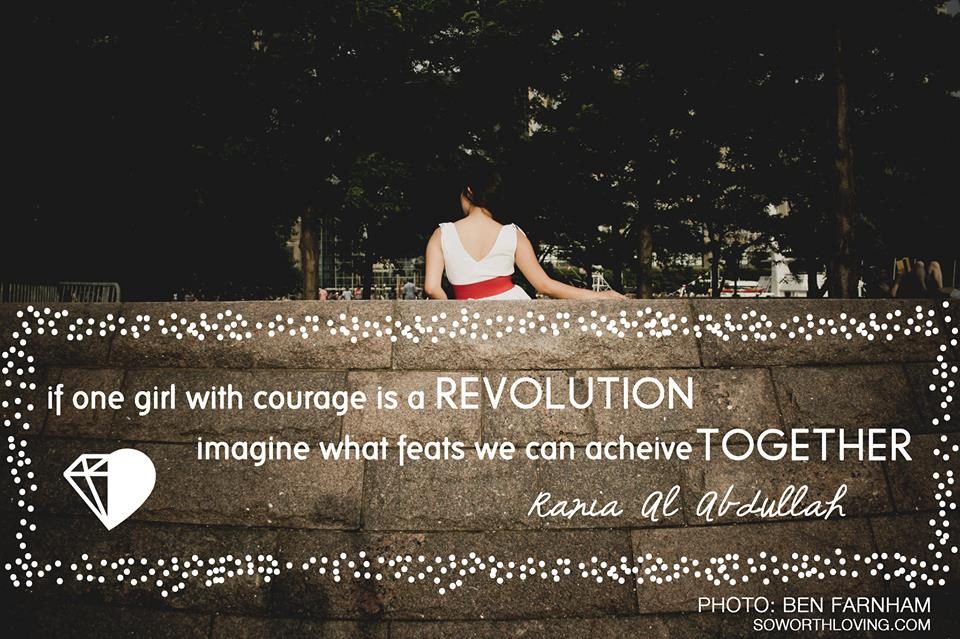 one girl with courage can start a revolution.