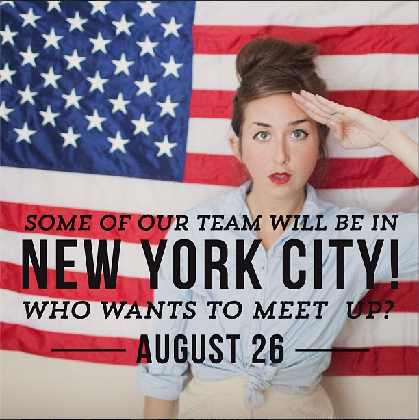 HEY Y'ALL!! Some of us will be in NYC on August 26 and we want to meet YOU! Who's gonna be there?? We'll see you on the 26th!