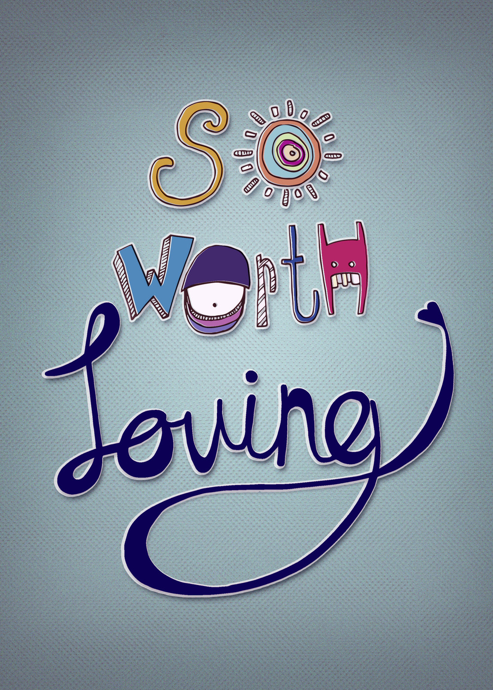 "trishgarcia :     I've been following  So Worth Loving  for quite some time now and love what they do. Inspired by there mission I wanted to show my appreciation with a SWL illustration. Hope you enjoy!  "" So Worth Loving is a community of people dedicated to spreading that message and helping empower people to pursue their dreams."" - SWL   # SoWorthLoving      # SWLFam"