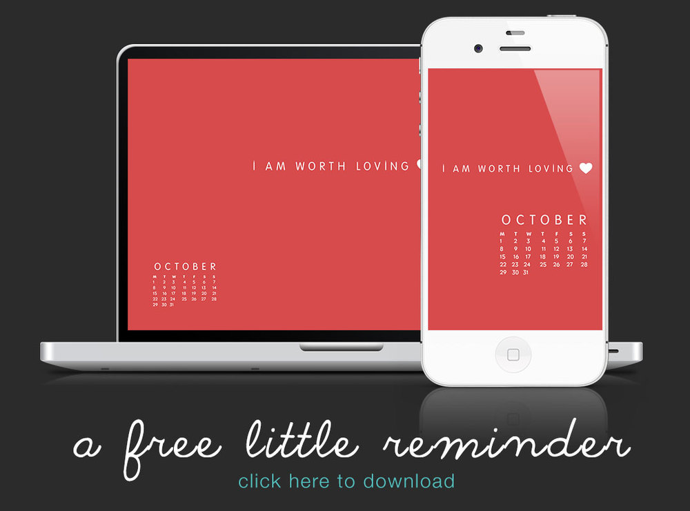 MONTH OF OCTOBER: Here is a free little reminder! CLICK HERE to download- Graphic for your laptop and smartphone!! designed by our one and only Kory Woodard