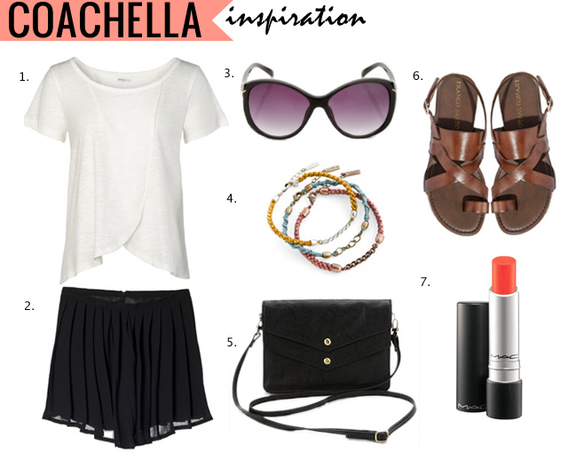 Love- Summer is coming!    stylemint :      1.  StyleMint Mason T  2. Cheap Monday Shorts  3.  StyleMint Rodeo Sunglasses  4.  JewelMint Friendship Bracelet  5. Urban Outfitter Bag 6. Nordstroms Shoes 7. M.A.C. Lipstick   #Coachella #StyleToAT