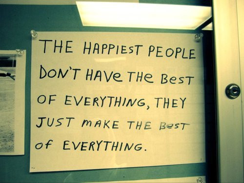Happy people dont…