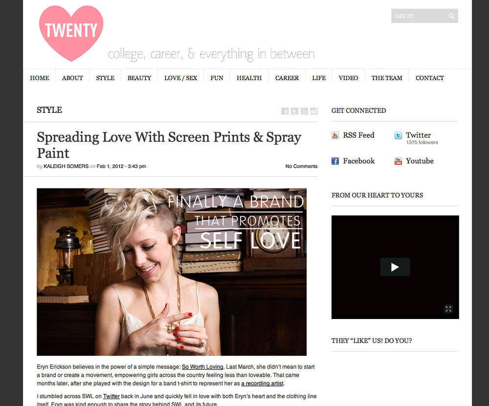 "CHECK OUT OUR INTERVIEW WITH ""LOVE TWENTY""  =click here="