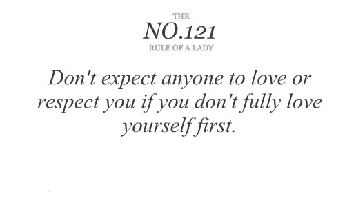love and respect you first