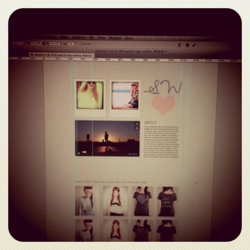 the first mock up for our new site! can't wait to actually have it! :)