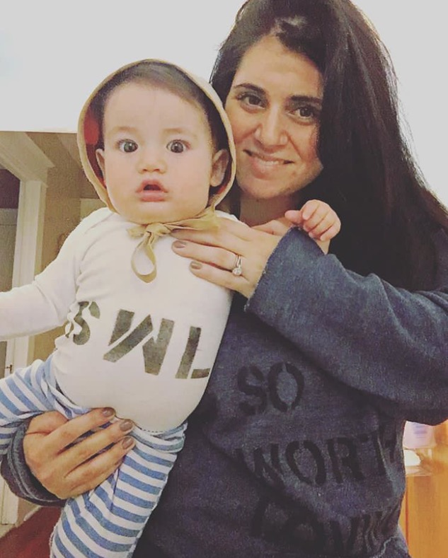 Nicole DeSantis and her adorable son