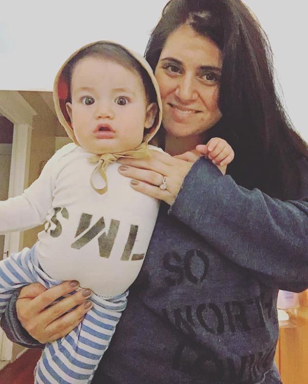 Nicole DeSantis and her adorabile son, Franco