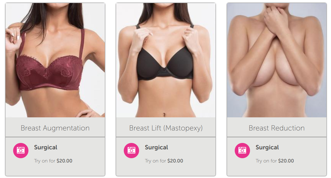 try on breast augmentation