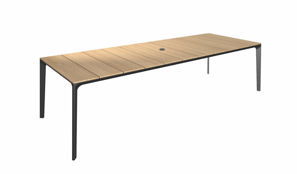 Teak Top + Meteor Base, 110""