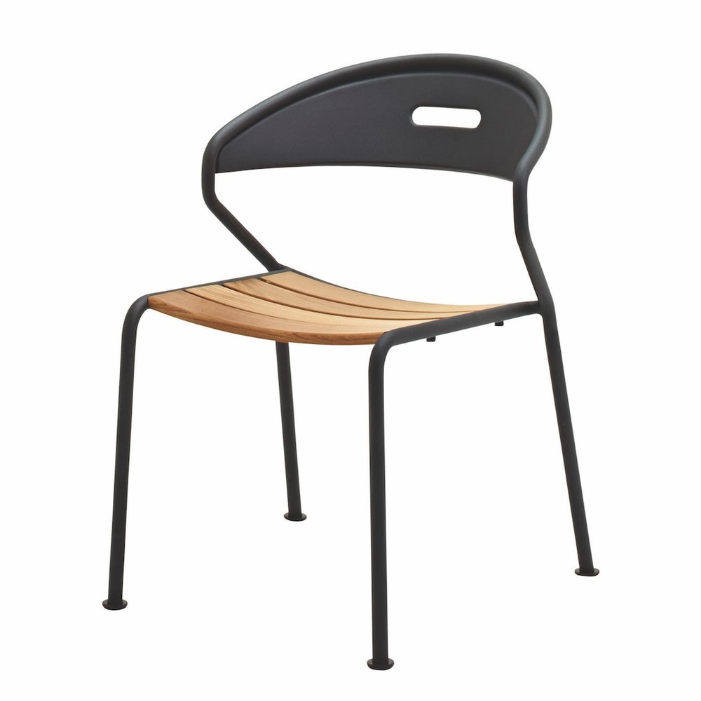 Gloster Curve Chair, Meteor