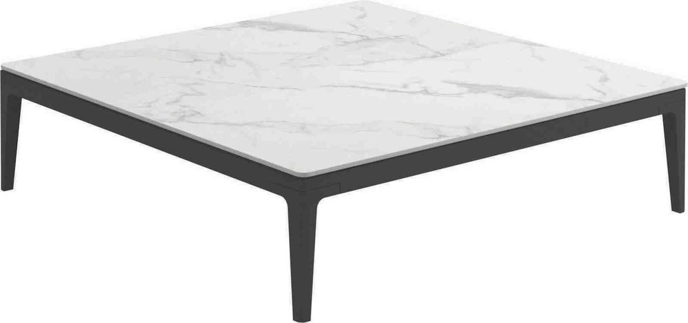 Square Coffee Table, Bianco/Meteor