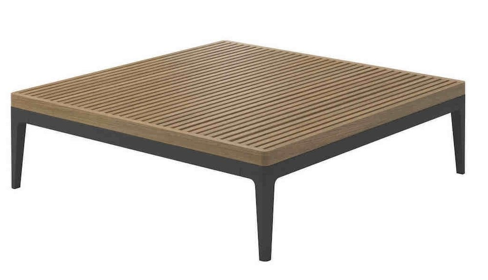 Grid Square Coffee Table, Teak