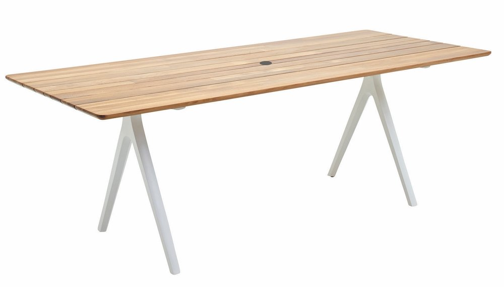 "Medium Split Table, Teak/White (36"" x 86.5"")"