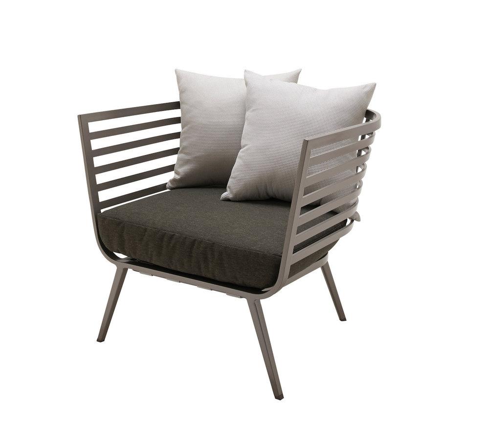 Vista Lounge Chair, Tungsten