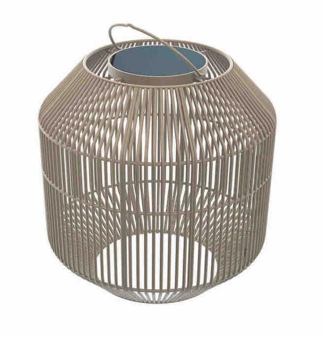 Gloster Nest Solar Lantern, Fawn