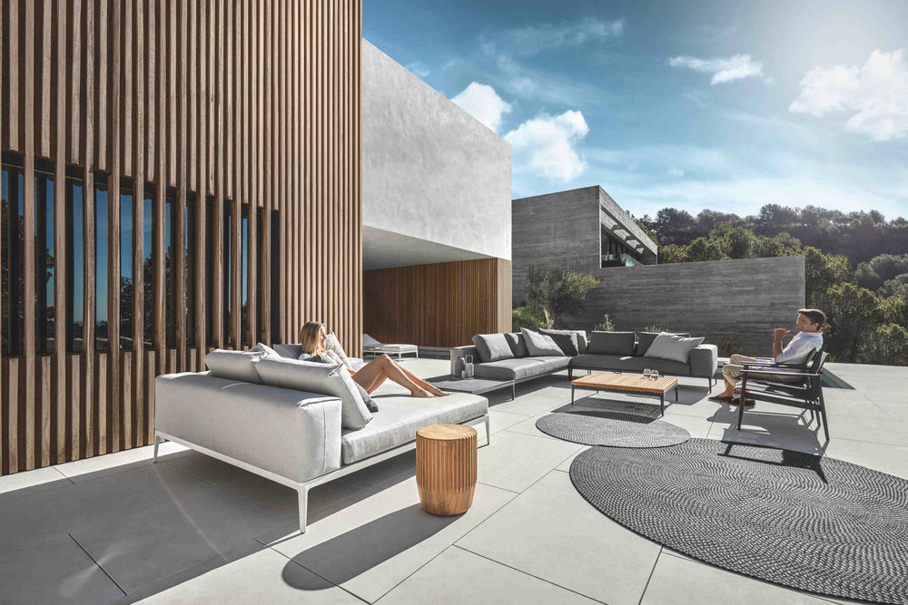 Gloster Grid Lounge + Gloster 180 Lounge Chairs