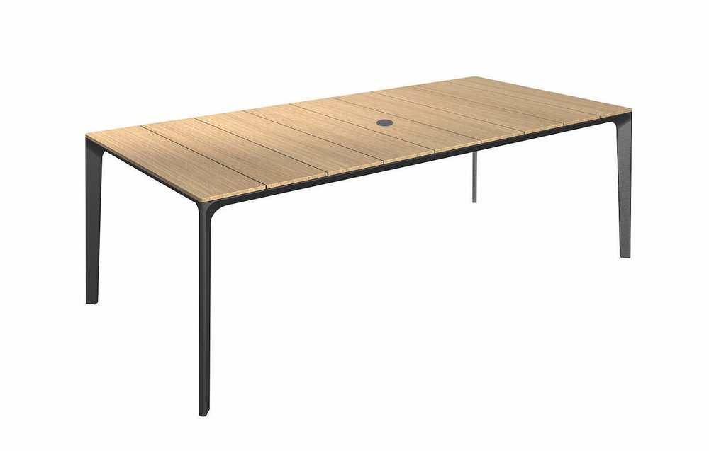 Teak Top + Meteor Base, 86.5""