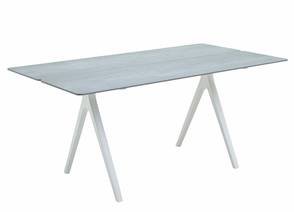 "Small Split Table, Ceramic/White (36"" x 67"")"