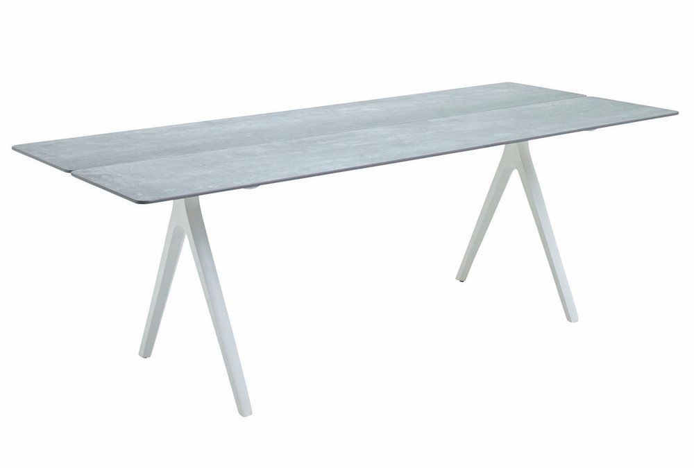 "Medium Split Table, Ceramic/White (36"" x 86.5"")"