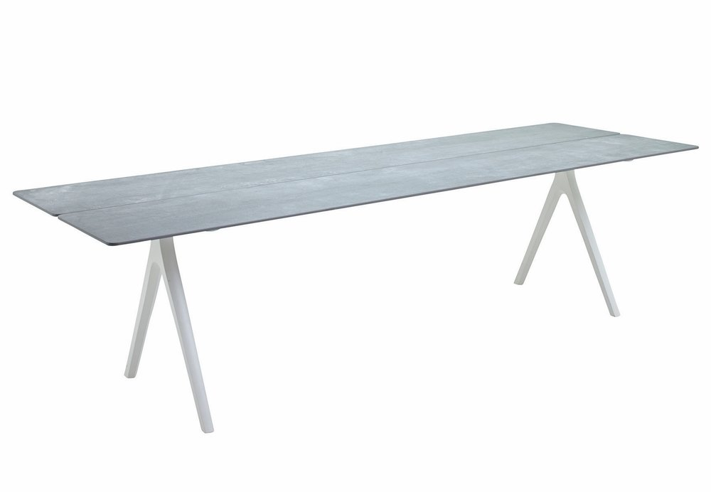 "Large Split Table, Ceramic/White (36"" x 110"")"